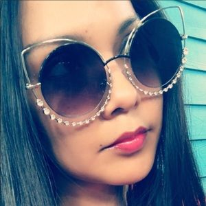 "🛍NEW⚡️ Oversize ""Sparkling Cateyes"" Sunglasses"